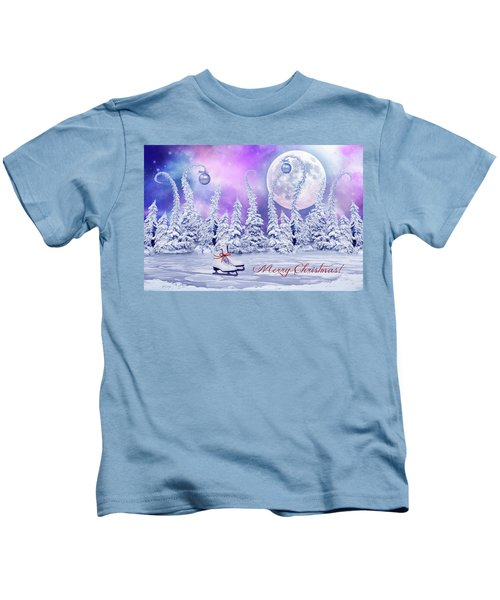 Christmas Card With Ice Skates Kids T-Shirt
