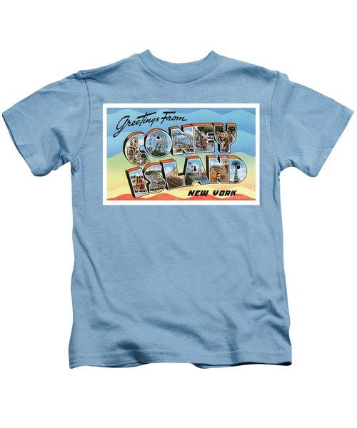 Coney Island Greetings - Version 2 Kids T-Shirt