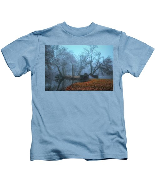 Crossing Into Winter Kids T-Shirt