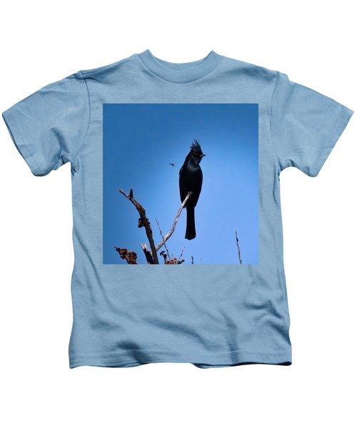 Desert Phainopepla And Dragonfly Kids T-Shirt