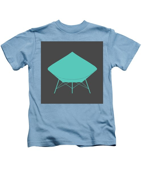 Dimond Lounge Chair Teal Kids T-Shirt
