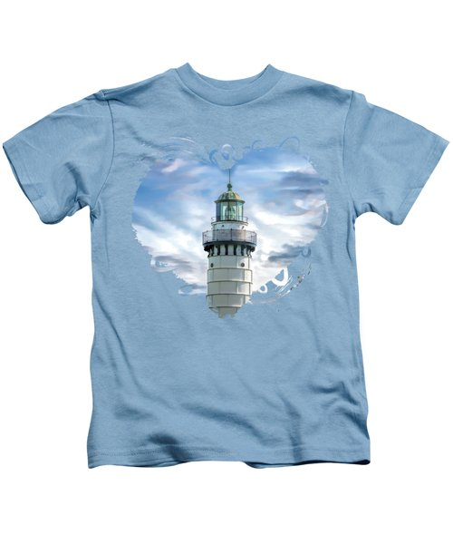 Door County Cana Island Beacon Kids T-Shirt