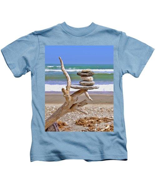 Drift Wood And Pebbles Kids T-Shirt