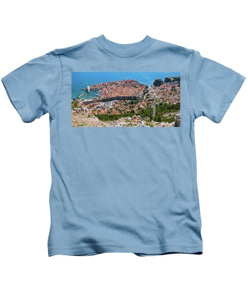 Dubrovnik Panorama From The Hill Kids T-Shirt