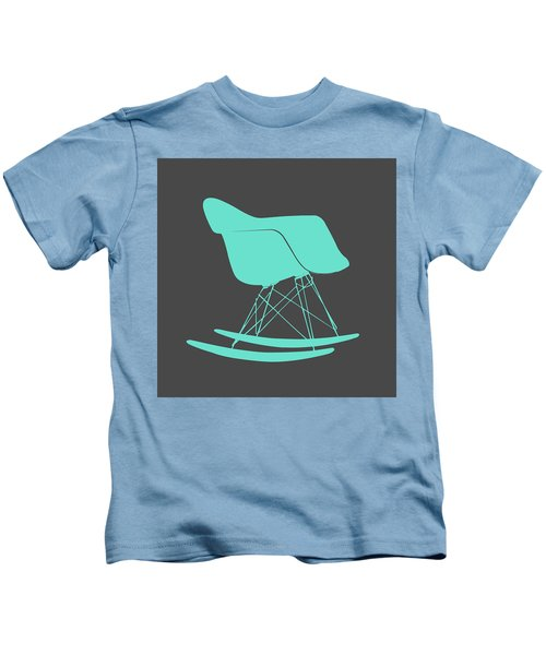 Eames Rocking Chair Teal Kids T-Shirt