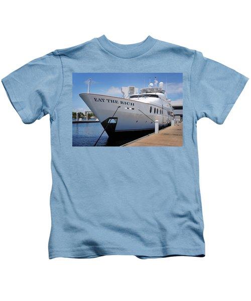 Eat The Rich Yacht Kids T-Shirt