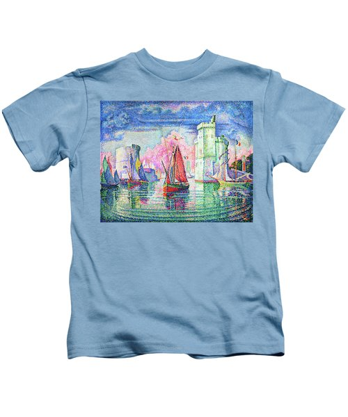 Entrance To The Port Of La Rochelle - Digital Remastered Edition Kids T-Shirt