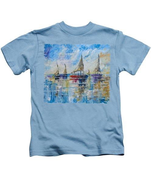 Five Boats Kids T-Shirt