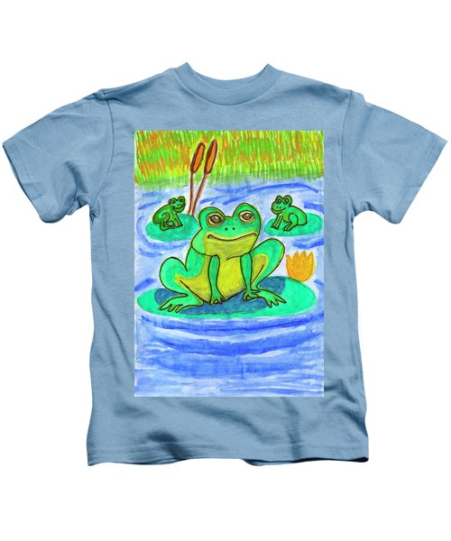 Funny Frogs Kids T-Shirt