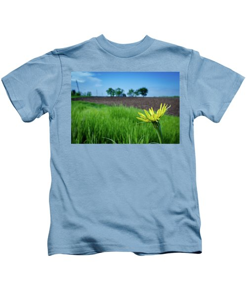 Goat's Beard On Nelson Farm II Kids T-Shirt