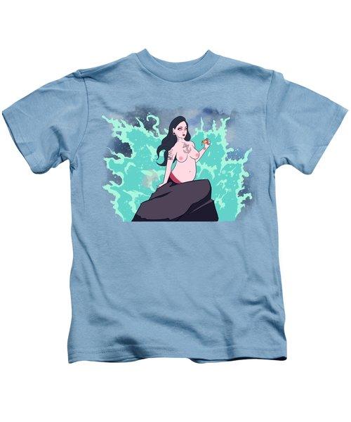 Gothic Mermaid Kids T-Shirt