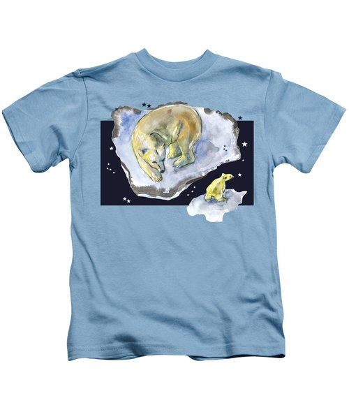 Great Bear Family -  Ursa Major Constellation Kids T-Shirt