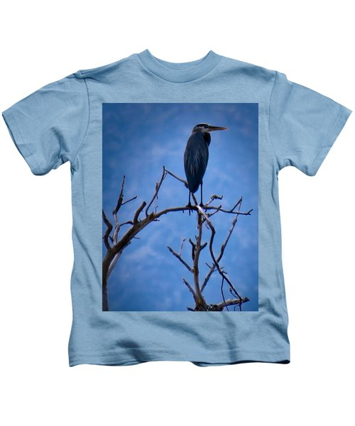 Great Blue Heron 3 Kids T-Shirt