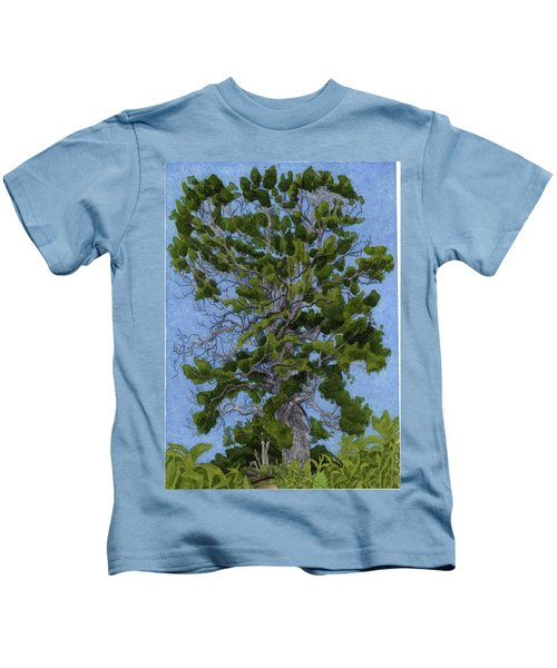 Green Tree, Hot Day Kids T-Shirt