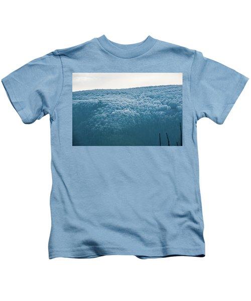 Hoarfrost Blue Mountain Kids T-Shirt
