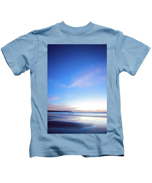 Horses Play In The Surf At Twilight Kids T-Shirt
