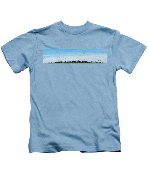 Kite Fest Panorama Kids T-Shirt