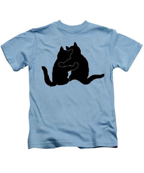 Kitty Hugs Kids T-Shirt