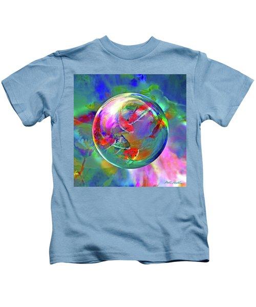 Koi Pond In The Round Kids T-Shirt