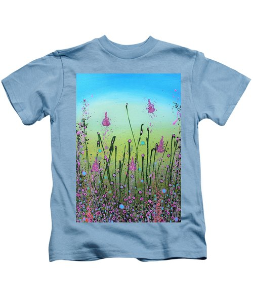 Lilacs And Bluebells Kids T-Shirt