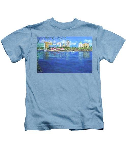 Long Beach Shoreline Kids T-Shirt