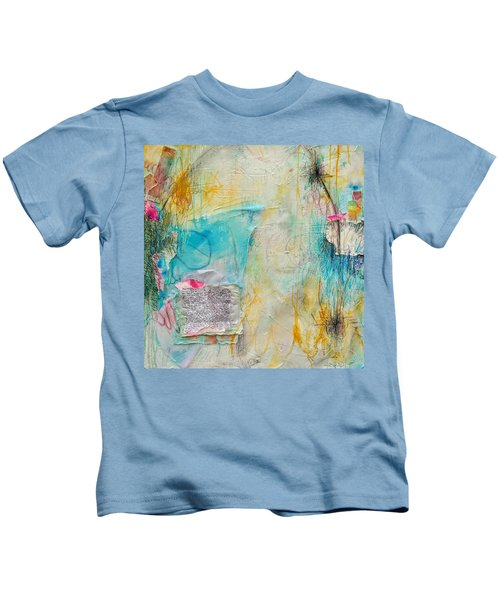 Kids T-Shirt featuring the painting Look How Far We've Come by Tracy Bonin