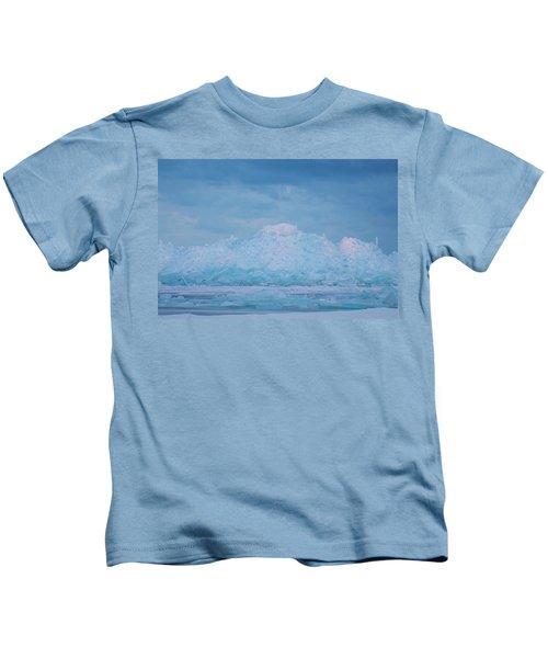 Mackinaw City Ice Formations 2161802 Kids T-Shirt