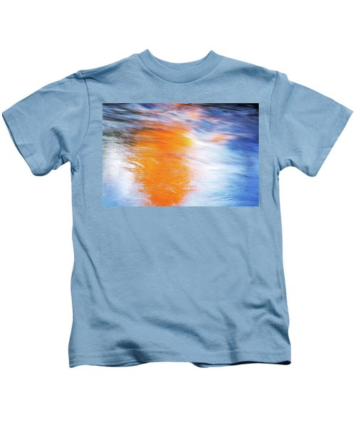 Maple Reflection Fall Kids T-Shirt