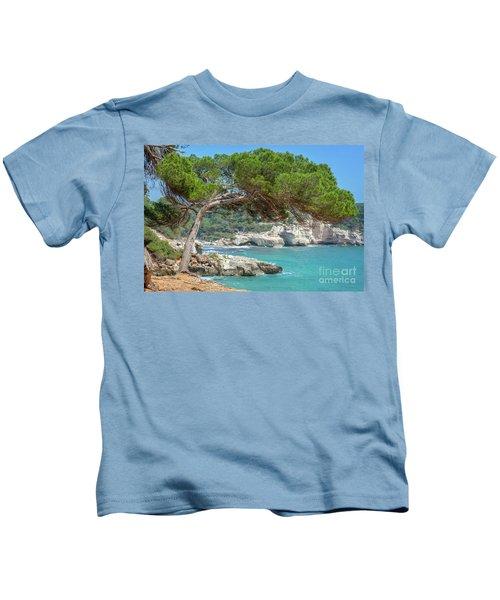 Mediterranean Landscape In Menorca Kids T-Shirt