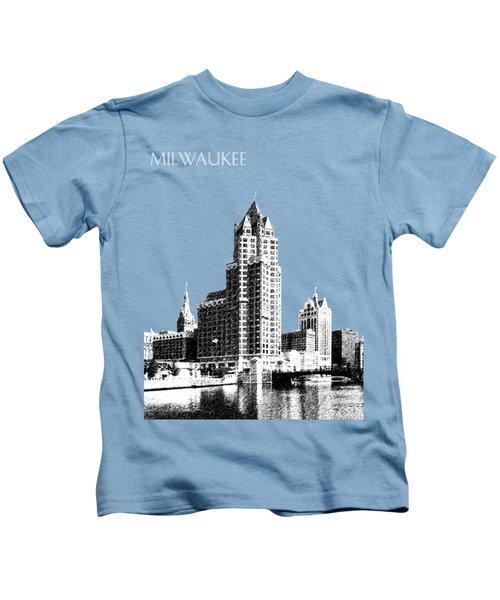 Milwaukee Skyline - 4 - Coral Kids T-Shirt