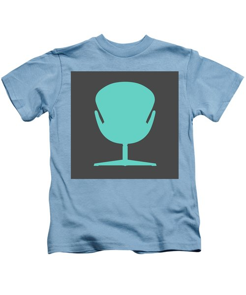 Modern Teal Chair I Kids T-Shirt