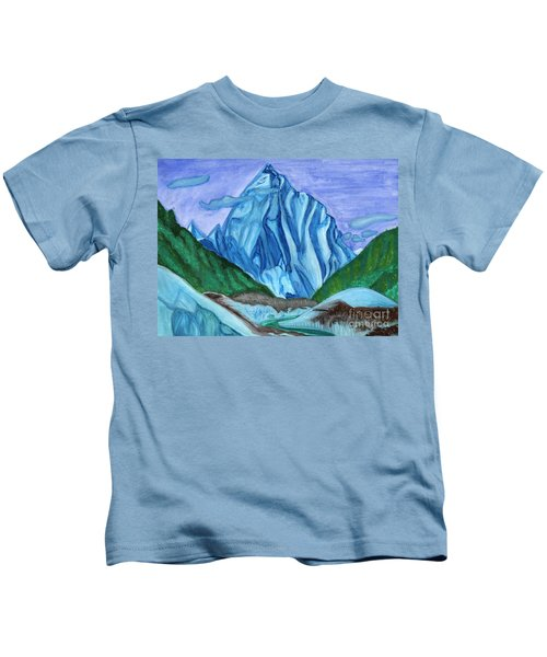 Snow Peak Above The Clouds Kids T-Shirt