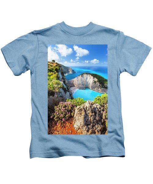 Navagio Bay Kids T-Shirt