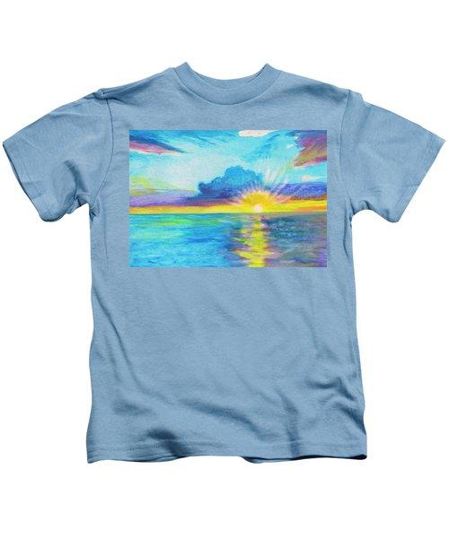 Ocean In The Morning Kids T-Shirt