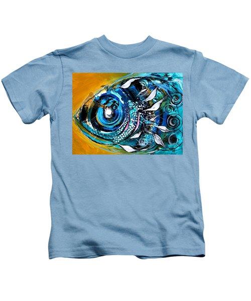 Ochre Fish Four Kids T-Shirt