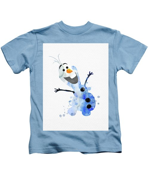 Olaf Watercolor Kids T-Shirt
