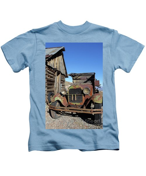 Old Rusty Truck Gold King Ghost Town Kids T-Shirt