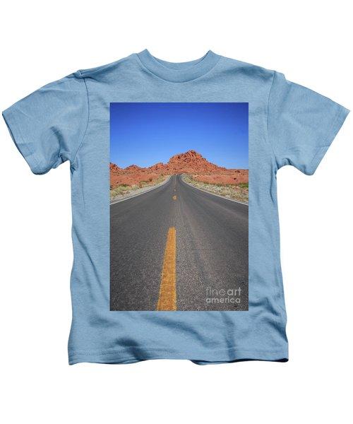 Open Road Valley Of Fire Kids T-Shirt