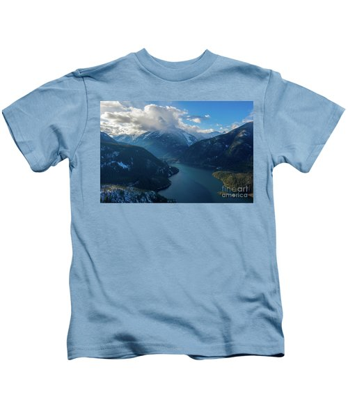Over Diablo Lake Cloudscape Kids T-Shirt