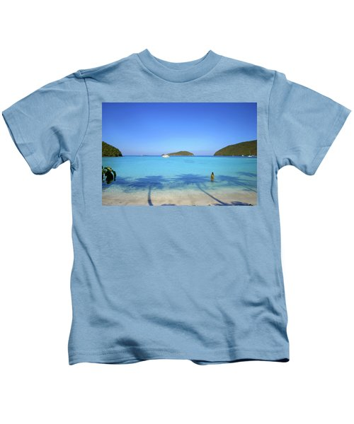 Palm Shadows On The Atlantic Kids T-Shirt
