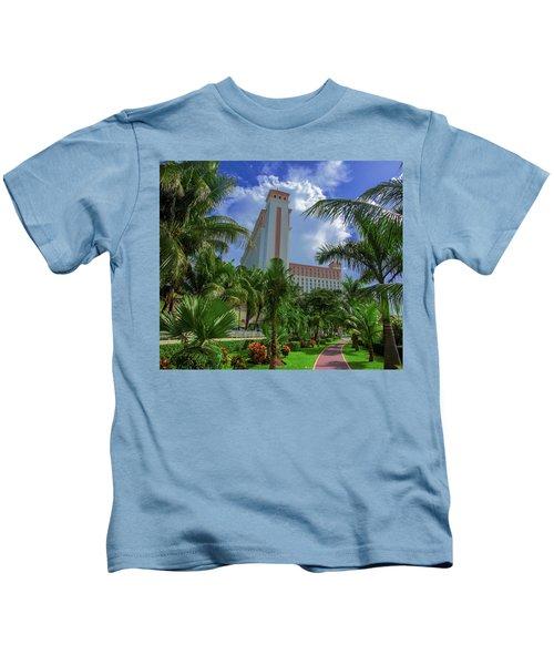 Palms At The Riu Cancun Kids T-Shirt