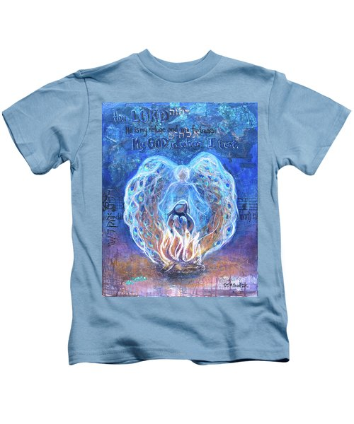 Peacock Angel    Cooler Version Kids T-Shirt