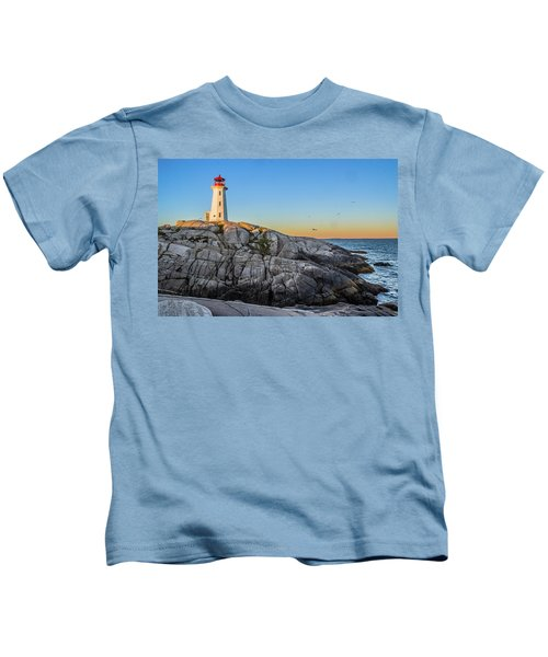 Peggys Cove Lighthouse Kids T-Shirt