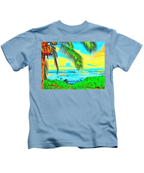 Poipu Sunrise Kids T-Shirt