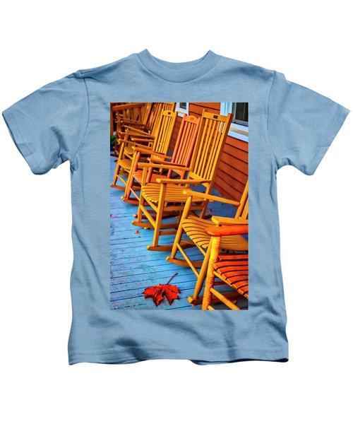 Porch Rocking Chairs Kids T-Shirt