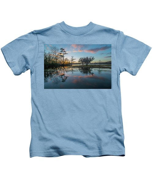 Quiet River Sunset Kids T-Shirt