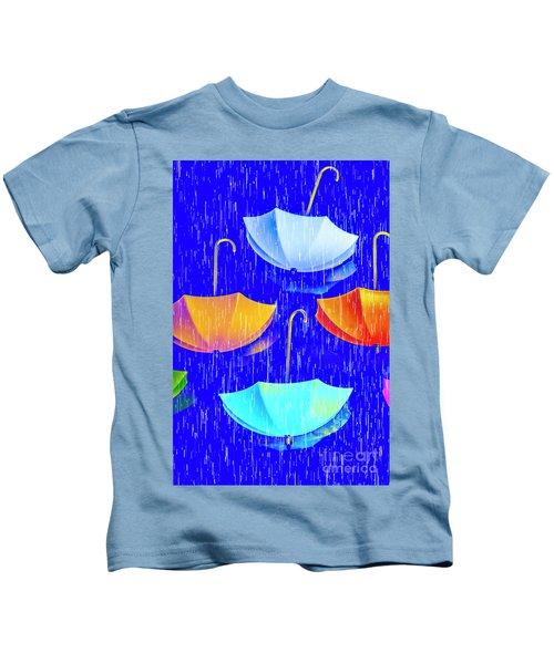 Rainy Day Parade Kids T-Shirt