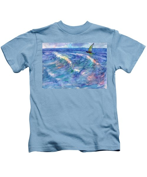Sailboat In The Sea Kids T-Shirt