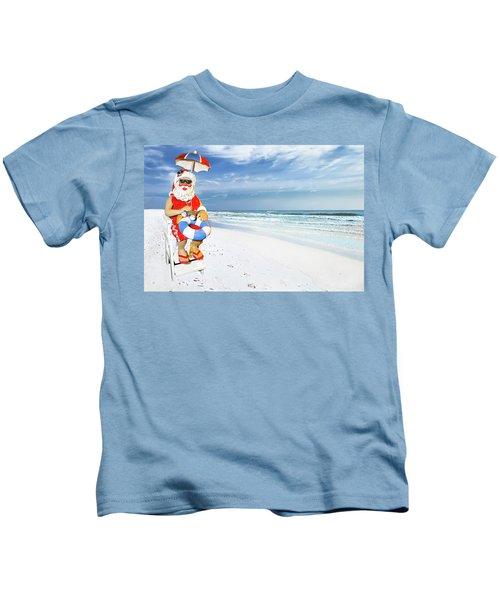 Santa Lifeguard Kids T-Shirt