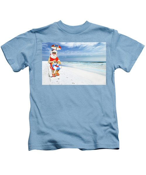 Santa Lifeguard Kids T-Shirt